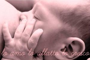 """Una delle immagini della campagna di """"ama nutri cresci - allattamento al seno"""" censurate"""